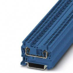 Клема редова пружинна 1,5 mm² синя - 2връзки