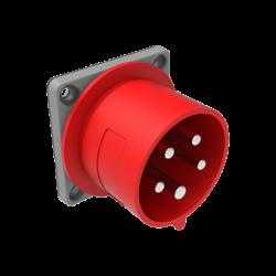 Щепсел за монтаж на панел  32A 380V IP 44