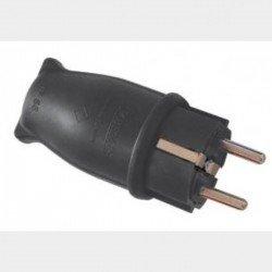 Щепсел прав гумиран 16А 220V IP44