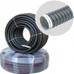 Гъвкава метална тръба Ф11вътр. с изолация без тел