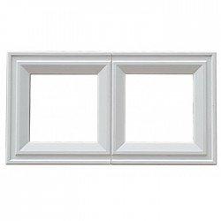 Рамка декоративна двойна бял