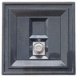 Розетка TV F  2M черен