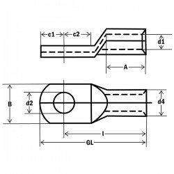 Кабелна обувка Cu 10 mm²/М10