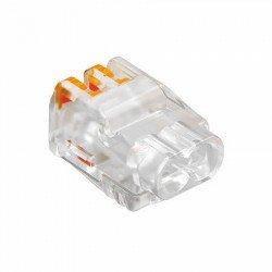 Щек клема за бърза връзка за гъвкав проводник 2 x 0.5 mm² до 2.5 mm²