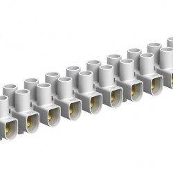Лустeр клема, 6mm², бяла