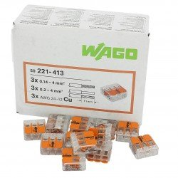 Клема 3-проводна  0,2 … 4 mm² WAGO