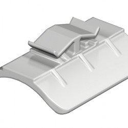 Пластина насрещна 34 - 40 mm пластмасова