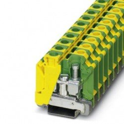 Клема редова 16 mm² жълто - зелена - 2връзки