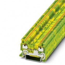 Клема редова 1,5 mm² жълто - зелена - 2връзки