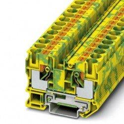 Клема редова 10 mm² жълто - зелен - 2връзки