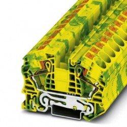 Клема редова 16 mm² жълто- зелен - 2връзки