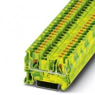 Клема редова 4 mm² жълто - зелена - 2връзки