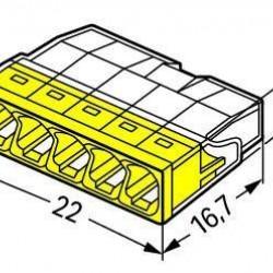 Клема 5 проводна 0,5 - 2,5 мм² WAGO