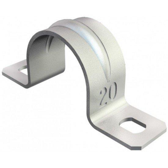 Скоба закрепваща двойна 12 mm
