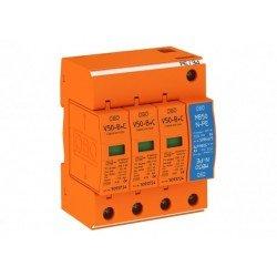 Аресторна защита тип 1+2, 3P+NPE, Un = 230 V, I imp  12.5 - 50 kA