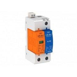 Аресторна защита тип 1+2, 1P+NPE Un = 230 V, I imp  7 - 14 kA, дистанционна сигнализация