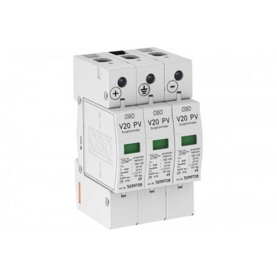 Аресторна защита тип 2 3P 1000 V DC