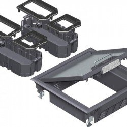 Комплект подова кутия за вграждане на инсталационни елементи - 6, модул 45, универсална