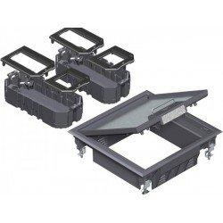 Комплект подова кутия за вграждане на инст. елементи - 6, модул 45, универсална