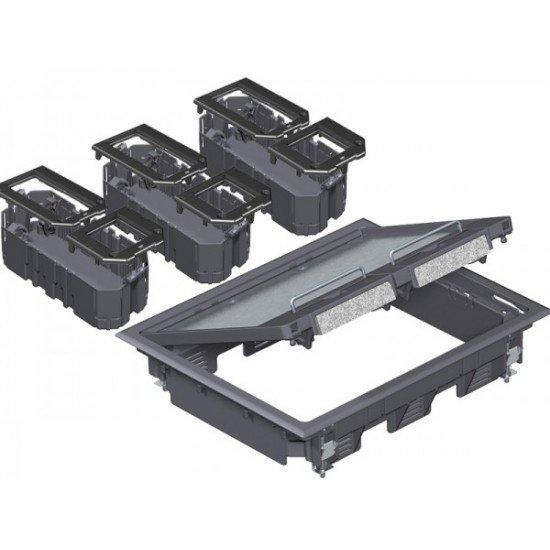 Комплект подова кутия за вграждане на инсталационни елементи - 9, модул 45, универсална