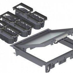 Комплект подова кутия за вграждане на елементи - 12 от модул 45, универсална