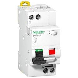 Прекъсвач автоматичен с дефектнотокова защита  DPNn VIGI 1P+N 16А  30mA 6kA,клас АС