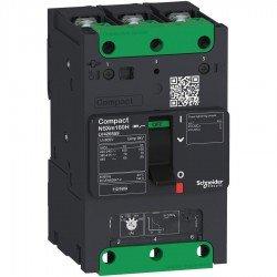 Прекъсвач автоматичен NSXm 100A TM80D 3P3D 16kA клеми за каб. накрайници/шини