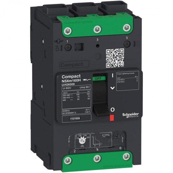 Прекъсвач автоматичен NSXm TM16D 3P3D 25kA EverLink клеми за кабелни накрайници/шини
