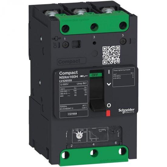 Прекъсвач автоматичен NSXm 80A TM80D 3P3D 36kA клеми за каб. накрайници/шини