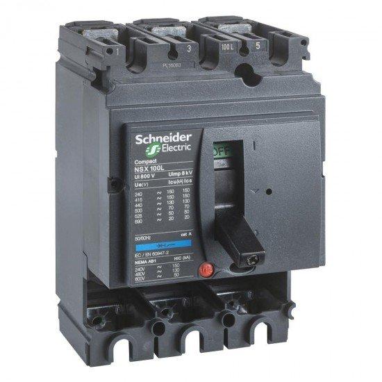 Автоматичен прекъсвач Compact 3P NSX100S без защита