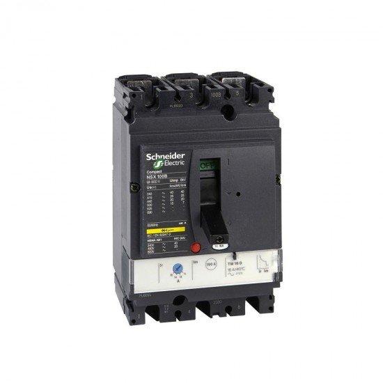 Автоматичен прекъсвач NSX100B 3P3D TM100D 25kA