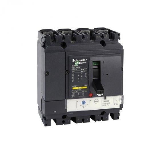 Автоматичен прекъсвач NSX100B 4P4D TM100D 25kA