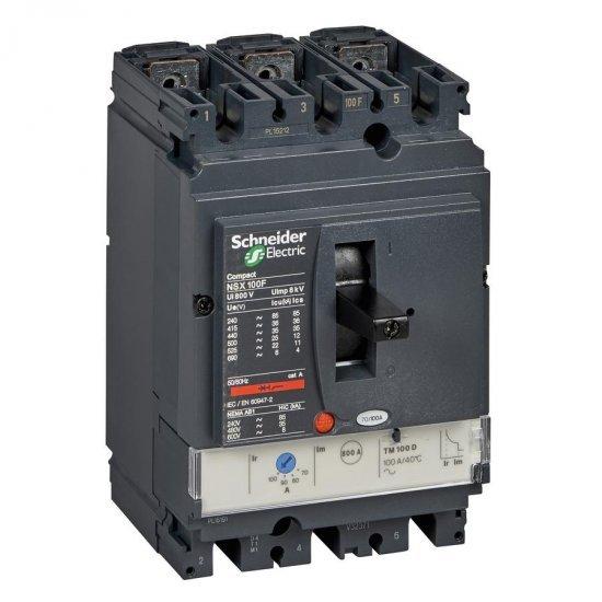 Автоматичен прекъсвач NSX100F 3P3D TM50D 36kA