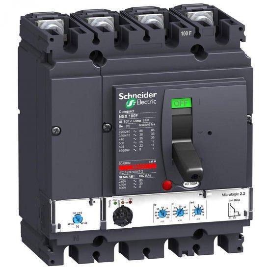Автоматичен прекъсвач NSX100F 4P4D 40A Micrologic 2.2 36kA