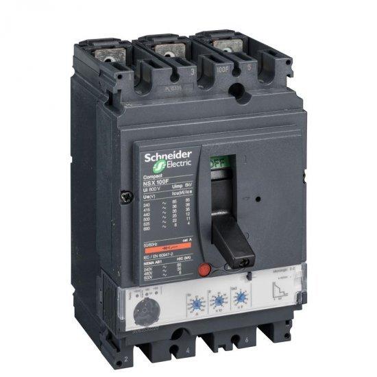 Автоматичен прекъсвач NSX100N 3P3D 100A Micrologic 2.2 50kA