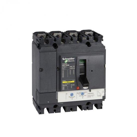 Автоматичен прекъсвач NSX160B 4P4D TM100D 25kA
