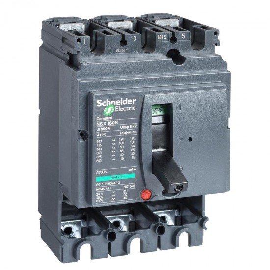 Автоматичен прекъсвач Compact 3P NSX160L без защита