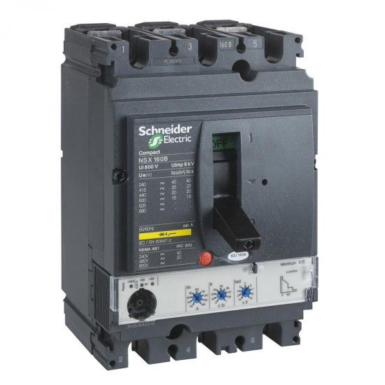 Автоматичен прекъсвач NSX160B 3P3D 100A Micrologic 2.2M 25kA