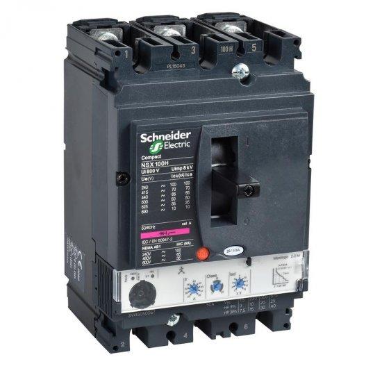 Автоматичен прекъсвач NSX160H 3P3D 100A Micrologic 2.2 70kA
