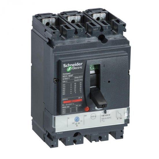 Автоматичен прекъсвач NSX160N 3P3D TM125D 50kA