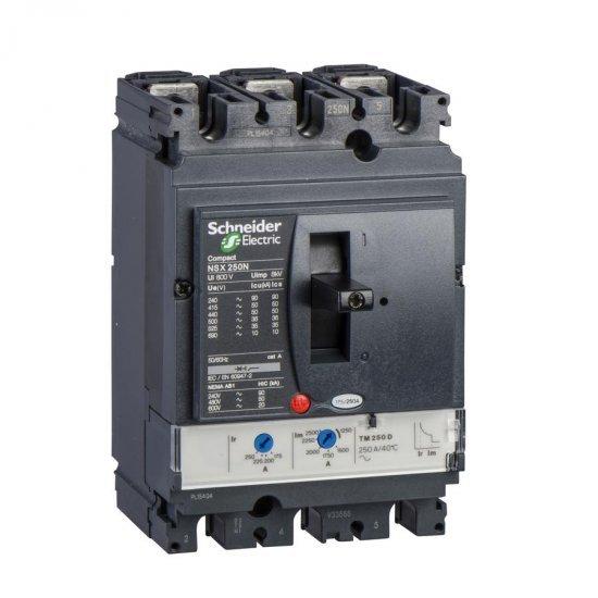Автоматичен прекъсвач NSX250N 3P3D TM250D 50kA