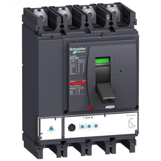 Автоматичен прекъсвач NSX400F 4P4D 250A Micrologic 2.3 36kA