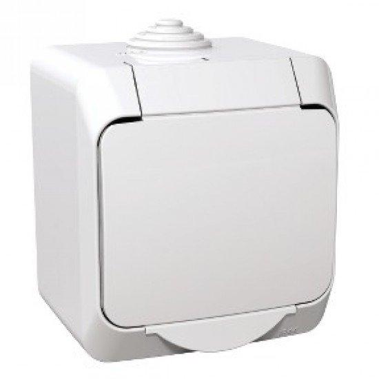 Контакт ОМ IP44 16A бял