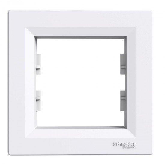 Рамка декоративна единична бяла