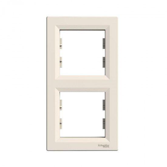 Рамка декоративна двойна вертикална крем