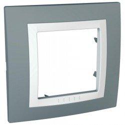 Рамка декоративна единична техническо сиво/бяло