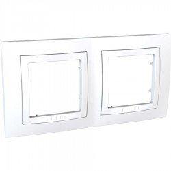 Рамка декоративна двойна бяла