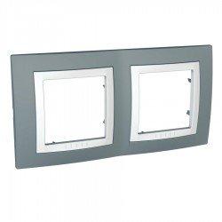 Рамка декоративна двойна техническо сиво/бял