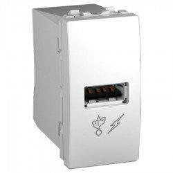 Механизъм USB зарядно 1М бял