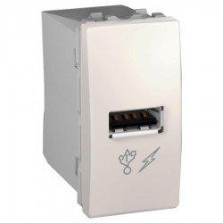 Механизъм USB зарядно 1М слонова кост